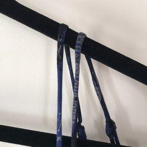 Express Dresses - Express Blue and Metallic Floral Dress Sz S